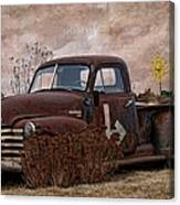 Transportation - Rusted Chevrolet 3100 Pickup Canvas Print