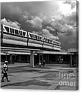 Transportation Station In Black And White Walt Disney World Canvas Print