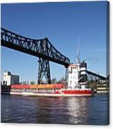 Transporter Bridge Over Canal Rendsburg Canvas Print