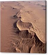 Transverse Sand Dune Namib-naukluft Np Canvas Print