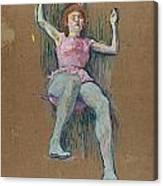 Trapeze Artist At The Medrano Circus Canvas Print