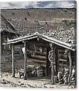 Trapper Dan's Log Cabins Canvas Print