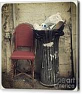 Trash And Chair Asking Please Take Me Home Canvas Print