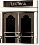 Trattoria Door Palm Springs Canvas Print