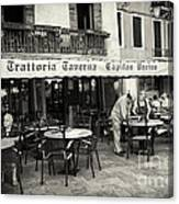 Trattoria In Venice  Canvas Print