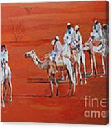 Travel By Camels Canvas Print