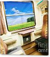 Travel In Comfortable Train. Canvas Print