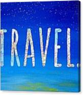 Travel Word Art Canvas Print