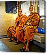 Traveling Monks Canvas Print