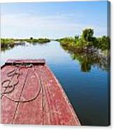 Traveling Through Tonle Sap Lake Canvas Print
