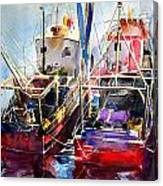 Trawlers In Early Light Canvas Print