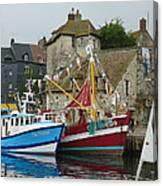 Trawlers In Honfleur Canvas Print