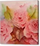Tre Rose Canvas Print