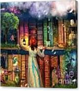Fairytale Treasure Hunt Book Shelf Variant 2 Canvas Print