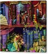 Fairytake Treasure Hunt Book Shelf Variant 4 Canvas Print