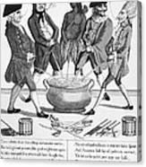 Treaty Of Paris Cartoon Canvas Print