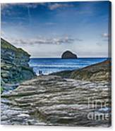 Trebarwith Strand Cornwall Canvas Print