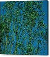 Tree Abstract Blue Green Canvas Print