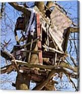 Tree Hut Canvas Print