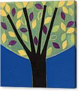 Tree In Blue Canvas Print