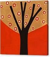Tree In Orange Canvas Print