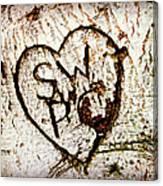 Tree Initials Canvas Print