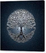Tree Of Life Nova Blue Canvas Print