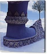 Tree On Shoe Canvas Print