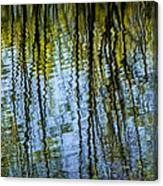 Tree Reflections On A Pond In West Michigan Canvas Print
