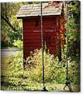 Tree Swing By The Outhouse Canvas Print
