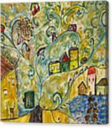 Tree Village Canvas Print