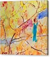 Tree Walking Canvas Print
