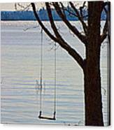 Tree With A Swing Canvas Print