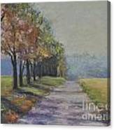 Treelined Road Canvas Print