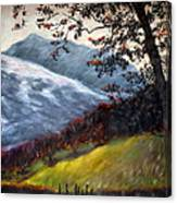 Trees And Hills Canvas Print