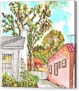 Trees Between Two Houses In West Hollywood - California Canvas Print