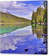 Trees Reflected At Valley Of The Five Lakes Canvas Print