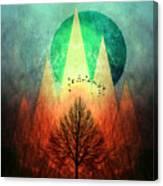 Trees Under Magic Mountains I I Canvas Print