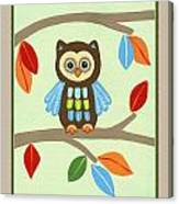Treetop Friends - Owl Canvas Print