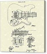 Tremolo Device 1956 Patent Art Canvas Print