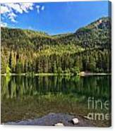 Trentino - Caprioli Lake Canvas Print