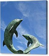 Tresco Dolphins Canvas Print