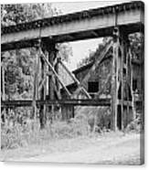 Trestle And Barn Canvas Print