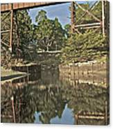 Trestle Over Reflecting Water Canvas Print