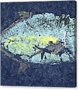 Gyotaku Trevally Canvas Print