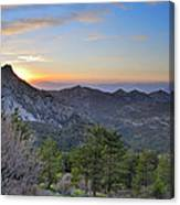 Trevenque Mountain At Sunset  2079 M Canvas Print