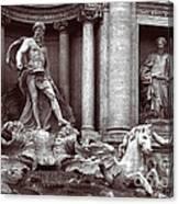 Trevi Fountain Detail Canvas Print