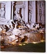 Trevi Fountain Evening Canvas Print