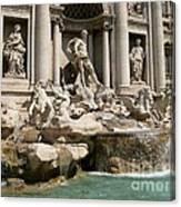 Trevi Fountain In Rome Italy Canvas Print