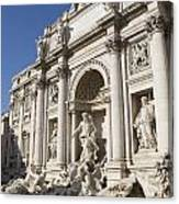 Trevi Fountain Rome Canvas Print